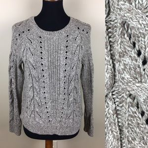 Lucky Brand cozy cotton cable sweater size M